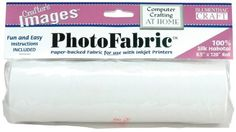 "100-Percent Silk Habotai Photo Fabric (8.5""x120"" roll) Paper-backed fabric to feed through a printer. 16.70"
