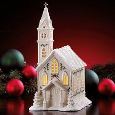 Lenox Village Lighted Church Figurine by Lenox
