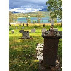 Gravestones from the 1900's on the Island of Senja in Northern Norway.