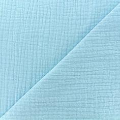 5bf159a0d548a Tissu double gaze de coton MPM Oeko-tex - bleu givré x 10cm