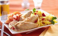 Filets mignons de poulet à la crème de poivron