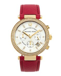 Parker Glitz Chronograph Watch, Pink by Michael Kors at Neiman Marcus Last Call.