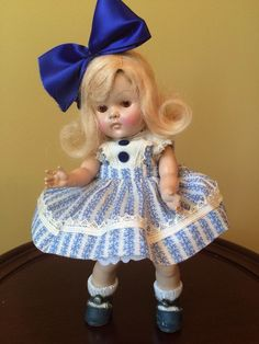 Vintage Vogue Strung Transitional Ginny, 1952 Donna, CS Blue Shoes #DollswithClothingAccessories