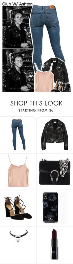 """Club W/ Ashton"" by rosexdagger ❤ liked on Polyvore featuring Levi's, Yves Saint Laurent, Alice + Olivia, Gucci, Lamoda, 5sos, ashtonirwin, 5secondsofsummer and 5sosoutfits"