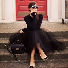 Kiria Fashion: Preto & Tule mi gusta