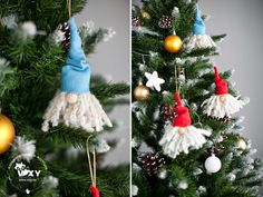 Christmas tree ornaments - easy to do! Step by step on the blog http://vixyblu.blogspot.ro/2014/12/diy-tutorial-ornament-mos-craciun.html