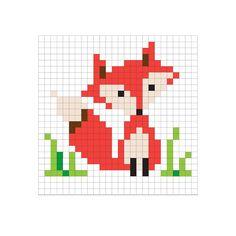 Χειροτεχνήματα: σχέδια με αλεπούδες για κέντημα /fox cross stitch ... More
