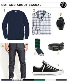 Known for his many comedic movie roles, Paul Rudd sports plaid and a cardigan for an out-and-about look. His look can be yours with the daily outfit breakdown.