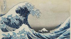 Under the wave off Kanagawa (The Great Wave) from Thirty-six views of Mt Fuji. Colour woodblock, 1831. Acquisition supported by the Art Fund. © The Trustees of the British Museum. On display from 25 May - 13 August