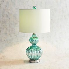 Illuminate your space with our Teardrop Gourd Table Lamp, featuring a durable steel base with a rippled, stacked-gourd design in a sleek teal finish. A white linen shade filters the light beautifully, Teal Table Lamps, Teal Lamp, Green Lamp, Blue Lamps, Purple Table, Lamp Table, Cool Lamps, Unique Lamps, Best Desk Lamp