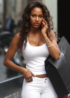 """egotisticalgold: """" """" Fanny Neguesha out and about in Milan """" Gorgeous """""""