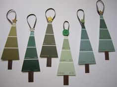 paint chip christmas trees!! Would make cute gift tags