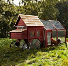 Terry this is what you need...  a portable chicken coop
