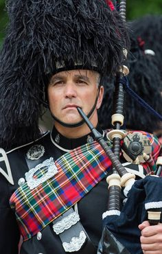 Piper from the Vancouver Police  Pipe Band at Windsor Castle.