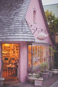 the tea rose - Carmel Eleonore Bridge, Hot Chocolate Coffee, Monterey Ca, Soda Fountain, Shop Fronts, Tea Stains, French Cottage, Humble Abode, Decoration