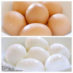 Perfect hard boiled eggs and easy shell removal with baking soda