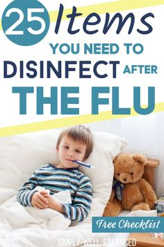 Has your house been hit hard by the cold or flu this year? Grab this handy checklist to make sure you clean and disinfect all the items in your house after sickness. 25 things to clean after illness like the cold or flu. What to clean after illness Cleaning Checklist, House Cleaning Tips, Cleaning Hacks, Cleaning Routines, Cleaning Products, Learning Activities, Toddler Learning, Toddler Activities, Kids Growing Up