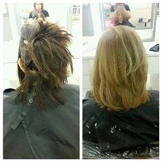 """31 Likes, 1 Comments - 💇Catherine Ann💄 (@catherineann_mua) on Instagram: """"Too bad transformation Wednesday isn't a thing.. #colorcorrection #browntoblonde #lotsofbleach…"""""""