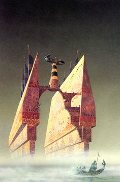 siryl: The characteristic mottled metal machinery of sci-fi illustrator Colin Hay. Arte Sci Fi, Sci Fi Books, Sci Fi Movies, Cyberpunk, 70s Sci Fi Art, Arte Tribal, Classic Sci Fi, Futuristic Art, Matte Painting