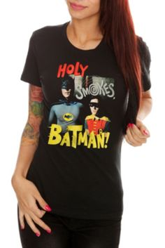 aec0fe6e8499 DC Comics Batman Holy Smokes Girls T-Shirt Comic Clothes