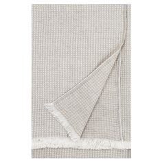 Maija blanket by Lapuan Kankurit features a vivid, organic texture that has been woven in two different colours. The lightweight and pleasantly soft blanket is made of an innovative blend of European linen, Tencel and cotton with Öko-Tex standard. Goods And Service Tax, Goods And Services, Soft Blankets, Home Textile, Textiles, Colours, Design, Design Comics, Cloths