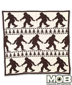 Bigfoot Sasquatch Blanket