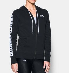 Women s UA Favorite Fleece Full Zip Hoodie Black size large 88031263d