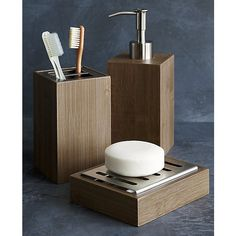 Dixon Bamboo Toothbrush Holder | Crate and Barrel
