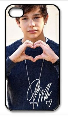 Austin mahone's signed Iphone 4/4s Iphone Cases