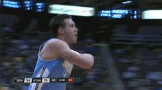 Gallinari, who is Italian, celebrated by doing this IT TASTES SO GOOD celebration