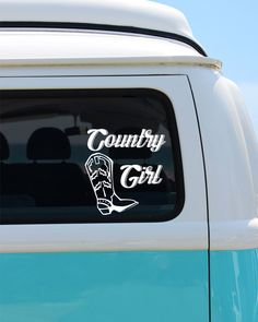 Country Girl Vinyl Window Decal - Car Sticker by BrokeGirlGraphics on Etsy