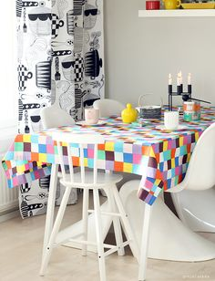 Kitchen with Marimekko fabrics. Our home.  www.pinjacolada.com