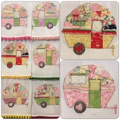 Tattered Quilt Camper Tea Towels and Pillows