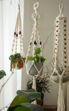 #macrameplanthanger #macramelove #macramemaker #macramesupply #hangingplanter #simplemacrame #handmade #etsyfinds #etsy #macramewallhanging #bohodecor #modernmacrame #ropeplanthanger #crochetplanthanger #wallshelf #decorativeplanter #houseplants #plantlovergifts #giftsforher #macramehanger #verticalplanthanger #gardening #verticalgardening #macrameideas #macrameprojects #crafts #highceilingplanter #heavypotholder #longhangingplanter #largeplanthanger #housewarming #minimalist #1970s #vintage Hanging Wall Planters Indoor, Macrame Hanging Planter, Macrame Plant Holder, Macrame Plant Hangers, Crochet Plant Hanger, Rope Plant Hanger, Ceiling Hangers, Floating Garden, Plant Basket
