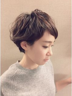 ベリーショート2016/11 Cut My Hair, Love Hair, Great Hair, Her Hair, Hair Cuts, Very Short Hair, Short Curly Hair, Curly Hair Styles, Permed Hairstyles