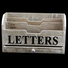 decorative letter tray