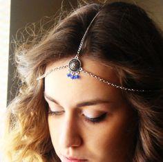 CHAIN HEADPIECE Head Chain Vintage Head chain headdress by Ninnos