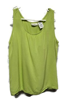 8bcf586079e89 White Stag Womens Size S Small Green Tank Top Shirt Sleeveless Blouse 100%  Rayon