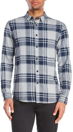 Bench Flannel Plaid Sport Shirt