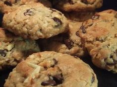 Almond Joy Mounds Cookie Recipe: will use GF flour and unsweetened shredded coconut! Cookie Desserts, Cupcake Cookies, Just Desserts, Cookie Recipes, Delicious Desserts, Dessert Recipes, Yummy Food, Cupcakes, Fun Recipes