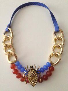 #collares, #necklace, #gold, #bisutería #cristal