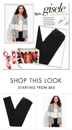 """Shein"" by amalija-1 ❤ liked on Polyvore featuring Yves Saint Laurent and Dolce&Gabbana"