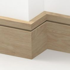 Oak Solid Square Single Edge Skirting 3 metre The Effective Pictures We Offer You About Skirt drawing A quality picture can tell you many things. You can find the most beautiful pictures that can be p Modern Staircase, Staircase Design, Spiral Staircases, Wooden Skirting Board, Floor Skirting, Floor Edging, Modern Baseboards, Narrow Hallway Decorating, Moldings And Trim