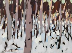 Winter Gums at Jenolan - Michael White Art Tree Forest, Australian Artists, White Art, Art Lessons, Landscape, Forests, Trunks, Pintura, Drawing Drawing