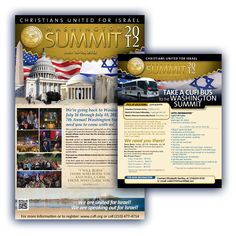Christians United for Israel - Summit Poster | Flyer