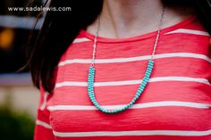 DIY Easy Turquoise Bead Necklace