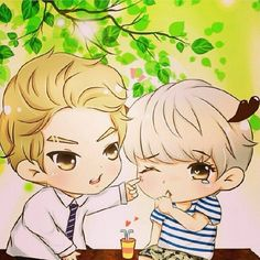 Exo chibi's - credit: to it's rightful owner - fanart