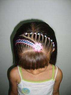 Too freaking adorable Girls Hairdos, Lil Girl Hairstyles, Girls Braids, Pretty Hairstyles, Easy Toddler Hairstyles, Chi Hair Products, Hair Health, Hair Today, Hair Dos