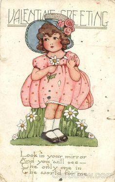 dutch girl vintage valentine - Google Search
