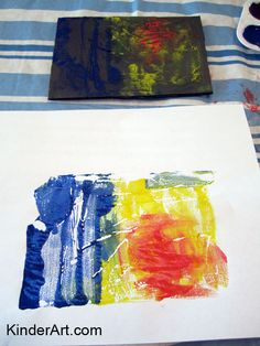 Mono Prints with Aluminum Foil Lesson Plan: Printmaking Lessons for Kids: KinderArt ®